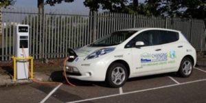 Charging electric car
